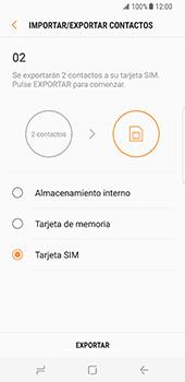 ¿Tu equipo puede copiar contactos a la SIM card? - Samsung Galaxy S8 - Passo 12