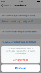 Restaura la configuración de fábrica - Apple iPhone 5s - Passo 6
