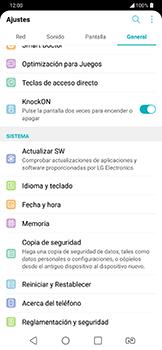 Realiza una copia de seguridad con tu cuenta - LG G7 Fit - Passo 4