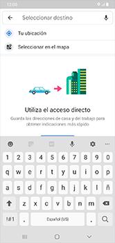 Uso de la navegación GPS - Samsung Galaxy A10 - Passo 13