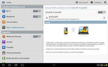 Configura el hotspot móvil - Samsung Galaxy Note 10-1 - N8000 - Passo 10