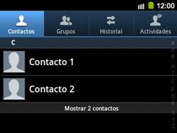 ¿Tu equipo puede copiar contactos a la SIM card? - Samsung Galaxy Y Pro GT - B5510 - Passo 3