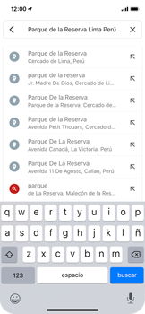 Uso de la navegación GPS - Apple iPhone XS - Passo 11