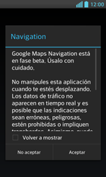 Uso de la navegación GPS - LG Optimus L5 II - Passo 19