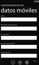 Configura el Internet - Nokia Lumia 800 - Passo 7