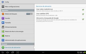 Uso de la navegación GPS - Samsung Galaxy Note 10-1 - N8000 - Passo 9