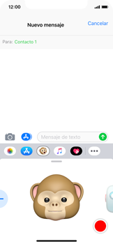 Enviar Animoji - Apple iPhone XS - Passo 11