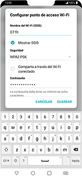 Configura el hotspot móvil - LG G7 Fit - Passo 6