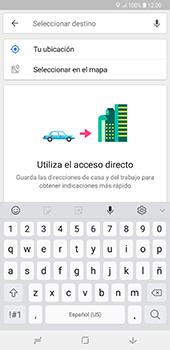 Uso de la navegación GPS - Samsung A7 2018 - Passo 13