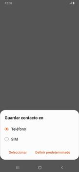 Cómo crear o editar un contacto - Samsung Galaxy A30 - Passo 5