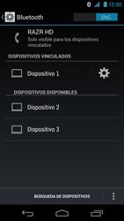 Conecta con otro dispositivo Bluetooth - Motorola RAZR HD  XT925 - Passo 8