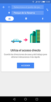 Uso de la navegación GPS - Huawei Mate 10 Pro - Passo 11