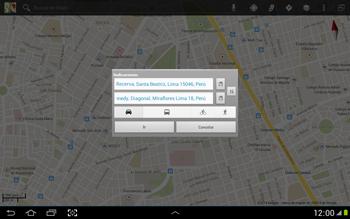 Uso de la navegación GPS - Samsung Galaxy Note 10-1 - N8000 - Passo 18