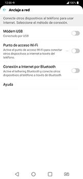 Comparte la conexión de datos con una PC - LG G7 Fit - Passo 5