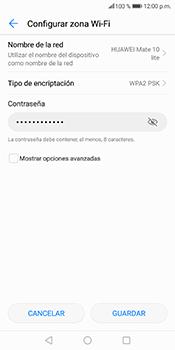 Configura el hotspot móvil - Huawei Mate 10 Lite - Passo 8
