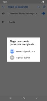 Realiza una copia de seguridad con tu cuenta - Samsung Galaxy A50 - Passo 9