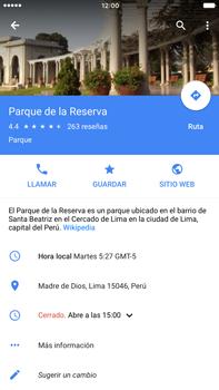 Uso de la navegación GPS - Apple iPhone 6 Plus - Passo 13