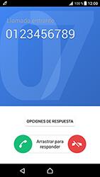 Contesta, rechaza o silencia una llamada - Sony Xperia XZ Premium - Passo 4
