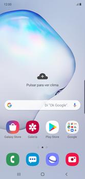 Cómo insertar la SIM card - Samsung Galaxy Note 10 - Passo 1