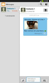 Envía fotos, videos y audio por mensaje de texto - Samsung Galaxy Tab 3 7.0 - Passo 16