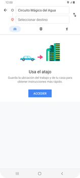 Uso de la navegación GPS - Samsung Galaxy A80 - Passo 12