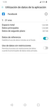 Verificar el uso de datos por apps - LG K40S - Passo 4