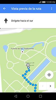 Uso de la navegación GPS - Huawei G8 Rio - Passo 21