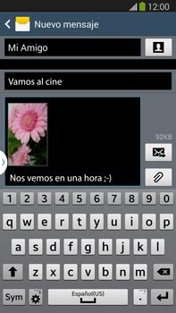 Envía fotos, videos y audio por mensaje de texto - Samsung Galaxy Note Neo III - N7505 - Passo 19