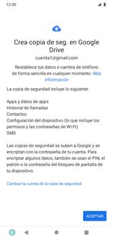 Realiza una copia de seguridad con tu cuenta - Motorola Moto G8 Play (Single SIM) - Passo 9