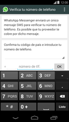 Configuración de Whatsapp - Motorola Moto E (1st Gen) (Kitkat) - Passo 5