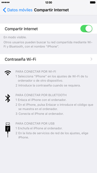 Comparte la conexión de datos con una PC - Apple iPhone 6s Plus - Passo 6
