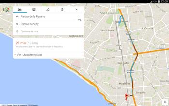 Uso de la navegación GPS - Samsung Galaxy Note Pro - Passo 13