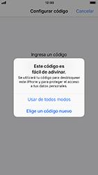 Activa o desactiva el uso del código de seguridad - Apple iPhone 8 - Passo 5