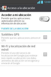 Uso de la navegación GPS - LG L4 II - Passo 7