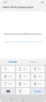 Cómo habilitar Carpeta Segura - Samsung Galaxy S10 Lite - Passo 15