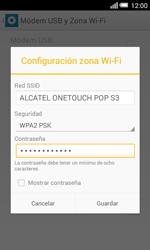Configura el hotspot móvil - Alcatel Pop S3 - OT 5050 - Passo 9