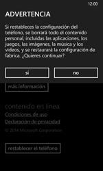 Restaura la configuración de fábrica - Nokia Lumia 635 - Passo 6
