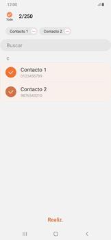 ¿Tu equipo puede copiar contactos a la SIM card? - Samsung Galaxy A50 - Passo 10