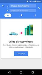 Uso de la navegación GPS - Sony Xperia XZ Premium - Passo 14