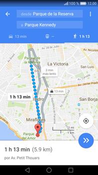 Uso de la navegación GPS - Huawei Mate 8 - Passo 16