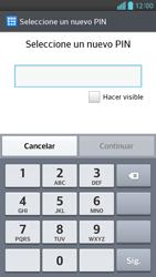 Activa o desactiva el uso del código de seguridad - LG Optimus G Pro Lite - Passo 6
