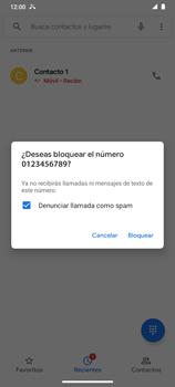 Cómo bloquear llamadas - Motorola Moto G9 Play - Passo 6
