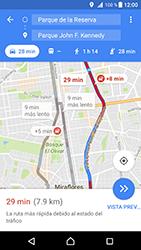 Uso de la navegación GPS - Sony Xperia XZ Premium - Passo 17