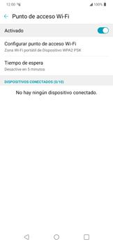 Configura el hotspot móvil - LG K40S - Passo 10