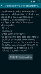 Restaura la configuración de fábrica - Samsung Galaxy S5 - G900F - Passo 6