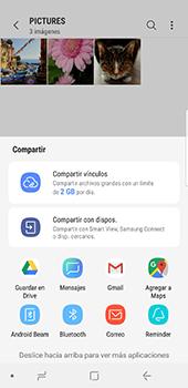 Transferir fotos vía Bluetooth - Samsung Galaxy S9 - Passo 12