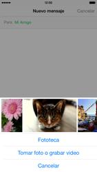 Envía fotos, videos y audio por mensaje de texto - Apple iPhone 6 - Passo 8