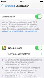 Uso de la navegación GPS - Apple iPhone 5c - Passo 9