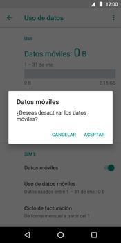 Desactiva tu conexión de datos - Motorola Moto G6 Plus - Passo 6