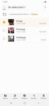 Transferir datos desde tu dispositivo a la tarjeta SD - Samsung Galaxy A30 - Passo 7